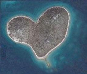 The romantic island of Galesnjak