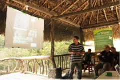 Lecture on boundary monitoring given within Las Tangaras Nature reserve