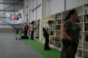 People browsing at the Stuff for Free event