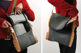 Handbag made of Wellington boots