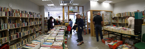 Books and browsers at Books for Free Upminster